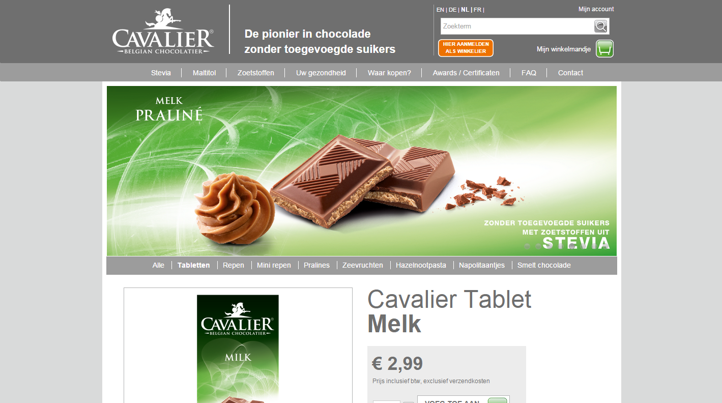 Cavalier product pagina