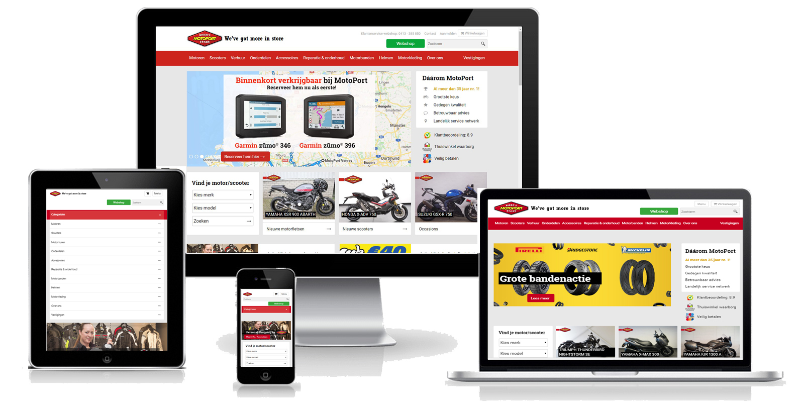 MotoPort Responsive Design