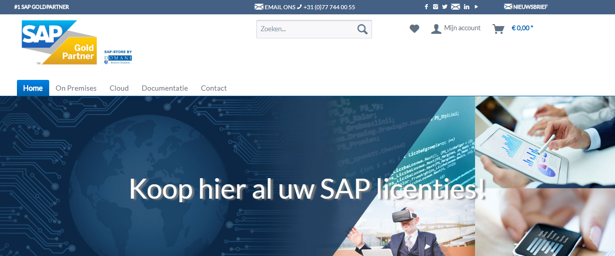 SAP Store by Domani header
