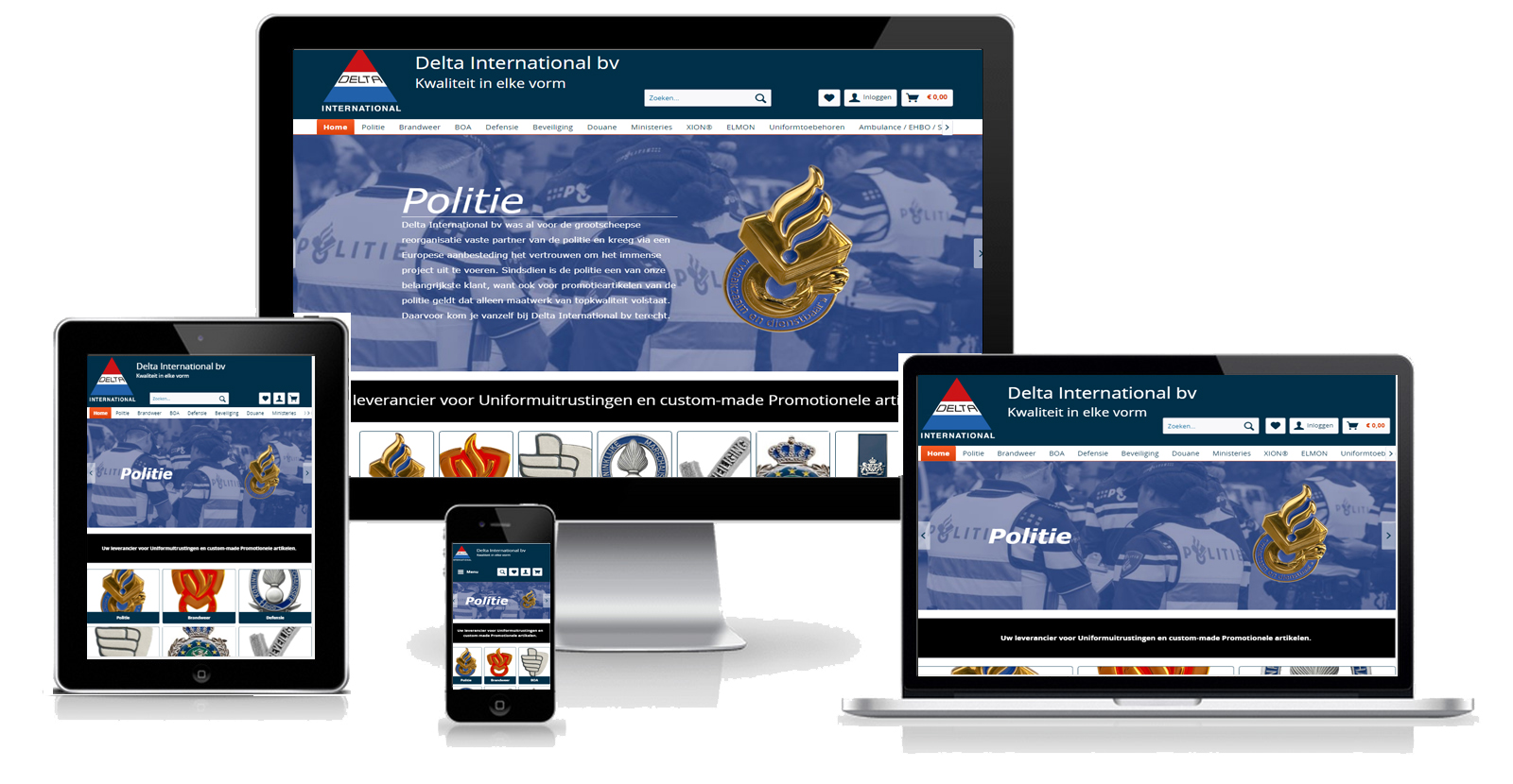 Delta International Responsive Design